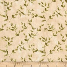 Poppy Celebration Leaves All Over Green/Cream from @fabricdotcom  Designed by Cynthia Coulter for Wilmington Prints, this cotton print fabric is perfect for quilting, apparel and home decor accents. Colors include green and cream.