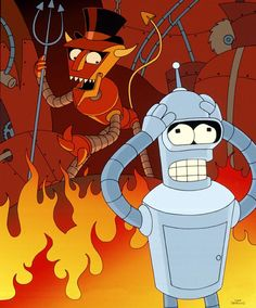 The Robot Devil and Bender in Robot Hell (Futurama #1.09 Hell Is Other Robots)