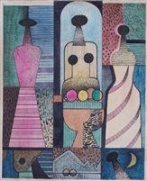 Mujeres con frutas by Mario Carreño 1947