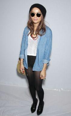 Zoe Kravitz NYFW 2012