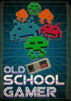 Old School Gamer  by Ewan Arnolda