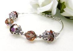 Gold Beaded Stacking Bracelet Pearl by crystaljemscouk on Etsy