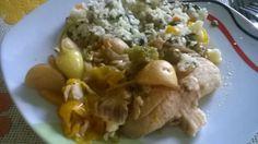 Filetes de pescado en salsa de clamato y cerveza (olla de cocción lentaCrockPotSlowCooker).