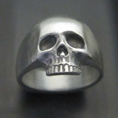MJG Sterling Silver KR Skull Ring Satin Finish SZ 10 1 4 Keith Slash | eBay