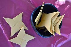 ninjago party -- origami stars and lots of others great ninjago ideas