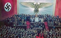 Inside Hitler's private world: At the Kroll Opera House in Berlin on April 1939 Hitler makes keynote address answering Roosevelt's appeal to avoid war. Rare Historical Photos, Rare Photos, Historical Artifacts, 2 Photos, Vintage Photos, World History, World War Ii, History Pics, Ww2 History