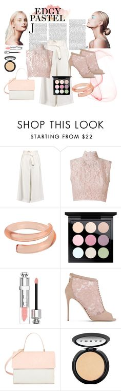 """""""edgy pastel"""" by dillafj on Polyvore featuring Amanda Wakeley, Martha Medeiros, First People First, MAC Cosmetics, Christian Dior, Dolce&Gabbana, Eddie and LORAC"""