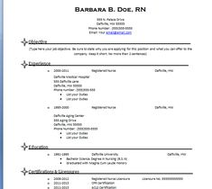 Professional Licensed Nurse Resume  Resume