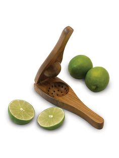 Wooden lime squeezer.