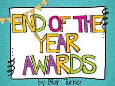 End of the Year Awards {30 Different Certificates} $