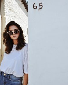"""""""White tees & sunnies"""" @colbymilano, taken by @kal_reston.   Kit and Ace"""