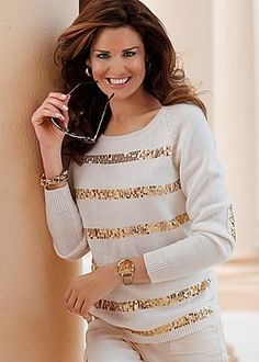 Sequin sweater sz m love the glitter patches