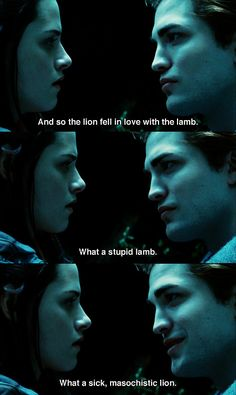 And so the lion fell in love with the lamb. #Twilight #RobertPattinson #KristinStewart