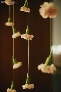 Dangling florals, wedding floral arch, whimsical wedding arch WHIMSICAL SUMMER WEDDING IN ONTARIO www.elegantwedding.ca