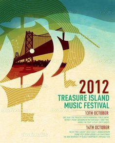 Treasure Island Music Festival Poster by Cassandra Soh on CreativeAllies.com