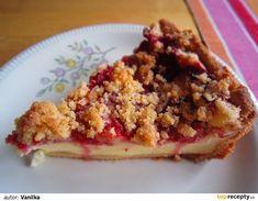 Křehký tvarohový koláč s jahodami