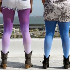 DIY Ombre Tights, so cute! Definitely making more than one, and I would love to rock them with my bff! <3