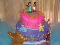 Jasmine and Aladdin cake for a little princess turning 3