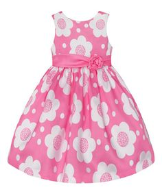 Look at this #zulilyfind! Light Pink Floral Dress - Toddler & Girls #zulilyfinds