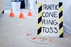 Project Nursery - Traffic Cone Ring Toss Game