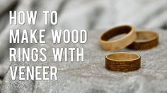 I show you step by step on how to make these beautiful wooden rings from sheets of veneer using bent lamination. Otherwise known as bent wood rings.
