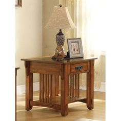 Drawer End Table with Shelf