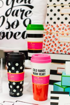 NEW to The TomKat Studio Shop | Kate Spade Thermal Mugs