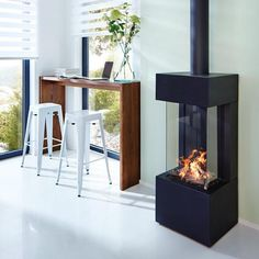 Find out all of the information about the ThermoCet BV product: gas heating stove / / metal / contemporary TRIMLINE 38 . Home Fireplace, Modern Fireplace, Fireplaces, Style At Home, O Gas, Farmhouse Remodel, Log Burner, Interior Decorating, Interior Design