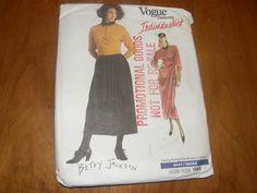 Vogue 1969 Betty Jackson Dress Top Skirt FF uncut nsld bin Vintage Vogue Patterns, Miss Dress, Wrap Blouse, Jackson, Sewing, Skirts, How To Wear, Tops, Dresses