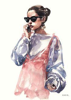 kasiq Fashion Illustration Series 9 on Behance