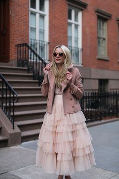 pink-sunglasses-blush-peacoat-jcrew-sequin-tank-pumps-nordstrom-asos-blair-eadie church girl outfit, cute outfits, millennial pink