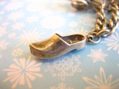 Sterling Silver Vintage LITTLE DUTCH SHOE Charm by charmingellie, $8.99