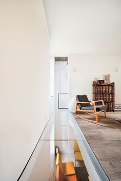 Wood and glass floor. Westway Architects, in collaboration with Stefano Pavia, turned a railway workers housing building into a vertical loft in Milan Contemporary Architecture, Interior Architecture, Interior And Exterior, Home Interior Design, Contemporary Interior, Architecture Details, Minimalism Living, Casa Loft, Glass Floor