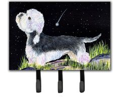 Starry Night Dandie Dinmont Terrier Leash Holder and Key Hook