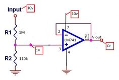 voltage follower #OpAmp circuit is a DC-coupled high-gain electronic voltage amplifier with a differential input and, usually, a single-ended output.
