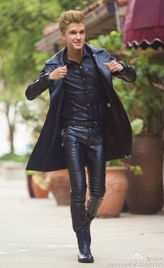 """vlord76: """" Another request: Cody Simpson in either skintight leather or rubber - I decided to go with leather this time ;) """""""