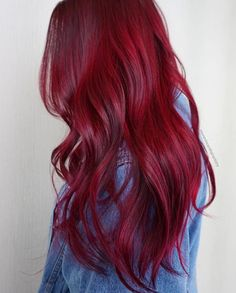 LOVE WANT Red Hair Color, Hair Colours, Red Ombre Hair, Dark Red Hair, Cherry Red Hair, Burgundy Hair, Wine Hair, Red Hair Don't Care, Hairstyles Haircuts