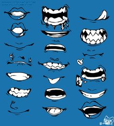 Anime Mouth Drawing, Teeth Drawing, Smile Drawing, Face Drawing Reference, Drawing Reference Poses, Boca Anime, Drawing Face Expressions, Body Drawing Tutorial, Anime Drawings Sketches