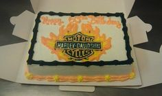 2011 Harley Davidson sheet cake
