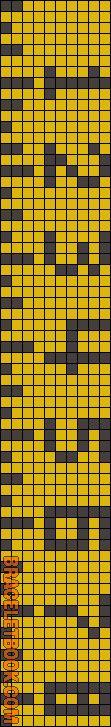 Alpha Friendship Bracelet Pattern #8325 - BraceletBook.com