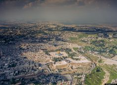Jerusalem from the air. From JERUSALEM (Imax film)