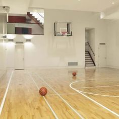 indoor basketball courts house. this is going in my future home.
