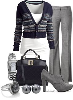 """Layered Cardigan"" by christa72 on Polyvore"