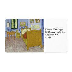 Van Gogh's Bedroom in Arles by Vincent Van Gogh Labels