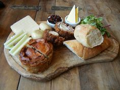Ploughman's Lunch. Like a outsize, carb-loaded bento! I love the personal meat…