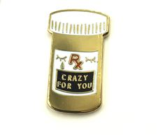 Crazy For you Lapel Pin by PenelopeGazin on Etsy https://www.etsy.com/listing/289155983/crazy-for-you-lapel-pin