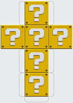 Super Mario Printable Block Templates http://mysupermarioboy.blogspot.co.uk/2014/05/mario-printable-block-templates.html