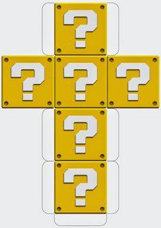 Super Mario Printable Block Templates http://mysupermarioboy.blogspot.co.uk/2014/05/mario-printable-block-templates.html