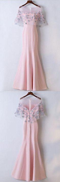 Mermaid Floor Length Affordable Pink Prom Dresses Party Dresses PG517 #promdress #mermaidress #longpromdress #dress #party #pgmdress