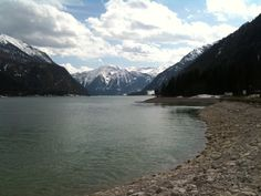 Lake Achensee, as seen from the town of Achenkirch, Austria
